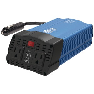 TRIPP LITE 375-Watt-Continuous PowerVerter(R) Ultracompact Car Inverter with USB & Battery Cables PV375USB