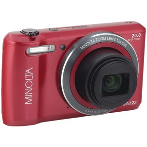 MINOLTA 20.0-Megapixel HD Wi-Fi(R) Digital Camera (Red) MN12Z-R