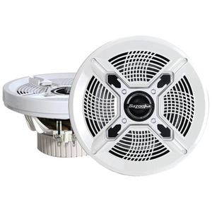 BAZOOKA Marine Coaxial Speakers (8 Inch. White) MAC8100W