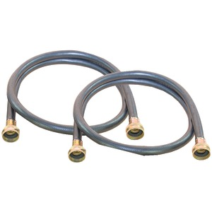 Black Rubber Washing Machine Hose (8ft 2 pk)