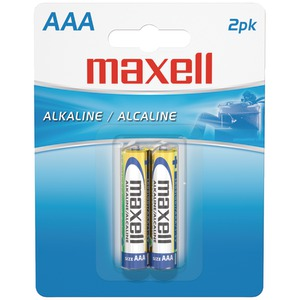MAXELL Alkaline Batteries (AAA; 2 pk; Carded) 723807 - LR032BP