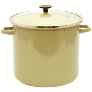 STARFRIT 16-Quart Enamel Carbon Steel Stock Pot with Lid 030086-001-0000