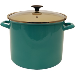 STARFRIT 11.6-Quart Enamel Carbon Steel Stock Pot with Lid 030085-001-0000