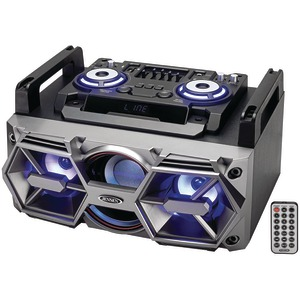 JENSEN(R) Portable Bluetooth(R) All-in-One Hi-Fi Music System with PA SMPS-750