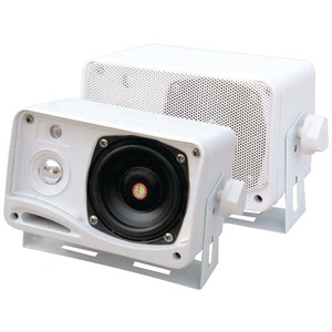 PYLE 3.5 Inch. 200-Watt 3-Way Weatherproof Mini-Box Speaker System (White) PLMR24