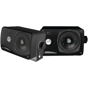 PYLE 3.5 Inch. 200-Watt 3-Way Weatherproof Mini-Box Speaker System (Black) PLMR24B