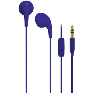 Bubble Gum Talk Earbuds with Microphone Control (Purple)