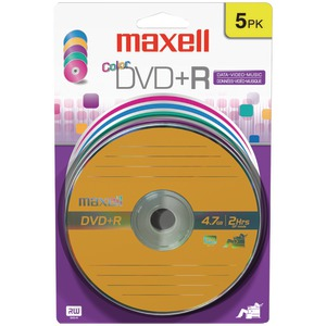 MAXELL 4.7GB DVD+Rs (5 pk; Color Carded) 639031