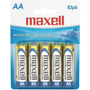 MAXELL Alkaline Batteries (AA 10 pk Carded) 723410 - LR610BP