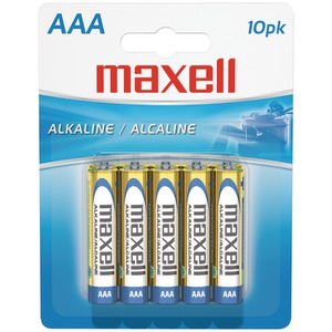 MAXELL Alkaline Batteries (AAA 10 pk Carded) 723810 - LR0310BP