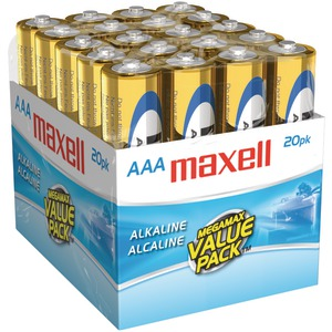 MAXELL Alkaline Batteries (AAA 20 pk Brick) 723849 - LR0320MP