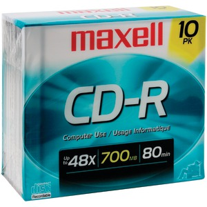 MAXELL 700MB 80-Minute CD-Rs 10 pk 622860/648210