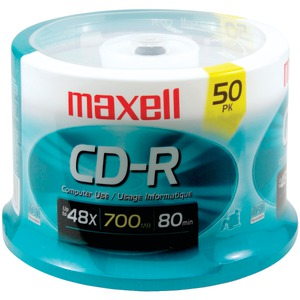 MAXELL 700MB 80-Minute CD-Rs (50-ct Spindle) 623251/648250