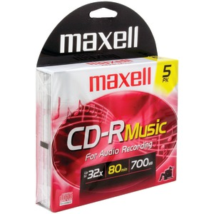 MAXELL 80-Minute Music CD-Rs (5 pk) 625132