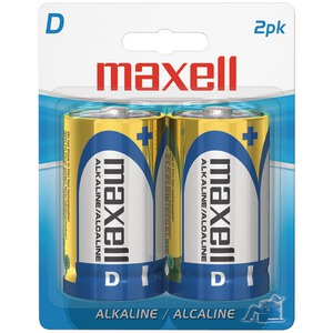 MAXELL Alkaline Batteries (D; 2 pk; Carded) 723020 - LR202BP