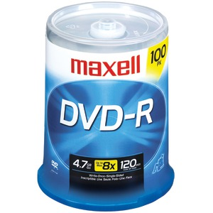 MAXELL 4.7GB DVD-Rs (100-ct) 638014