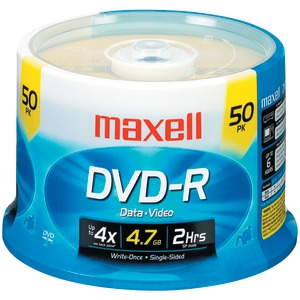 MAXELL 4.7GB DVD-Rs (50-ct Spindle) 635053/638011