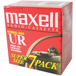 MAXELL Normal Bias Audio Tapes (7 pk) 108575