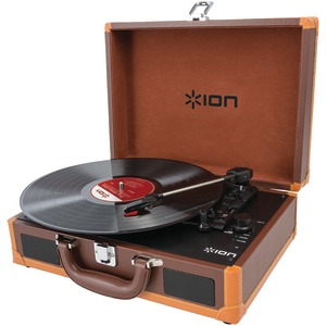 ION(R) Vinyl Motion Deluxe Portable Turntable with Case IT45DX