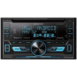 KENWOOD(R) Double-DIN In-Dash CD Receiver, SiriusXM(R) Ready DPX302U