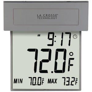 LA CROSSE TECHNOLOGY Solar Window Thermometer 306-605