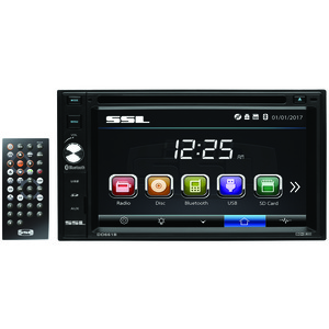 SOUND STORM LABORATORIES(R) 6.2 inch. Double-DIN In-Dash Touchscreen Multimedia Receiver with Bluetooth(R) SSLDD661B