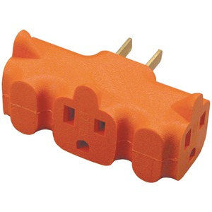 AXIS 3-Outlet Heavy-Duty Grounding Adapter (Orange) YLCT-10