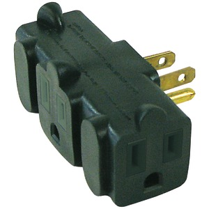 AXIS 3-Outlet Heavy-Duty Grounding Adapter (Green) 45092