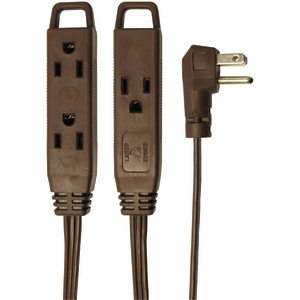 AXIS 3-Outlet Indoor Extension Cord 8ft (Brown) 45504