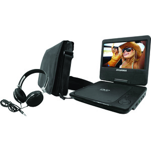 SYLVANIA(R) 9 inch. Swivel-Screen Portable DVD Player with Carry Bag & Headphones SDVD9060-COMBO-BLACK