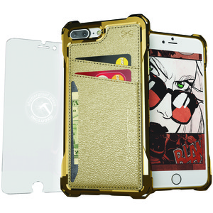 GHOSTEK(R) Exec Series Wallet Case for iPhone(R) 8 Plus/iPhone(R) 7 Plus (Gold) GHOCAS579