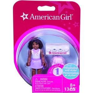 MATTEL(R) American Girl(R) Mini Figure (White Top & Purple Skirt) DRC69