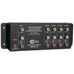 CE LABS Prograde Composite A-V Distribution Amp (1 input  -  4 output) AV 400