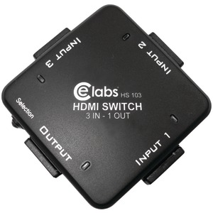 CE LABS 3-In 1-Out Auto HDMI(R) Switcher HS103