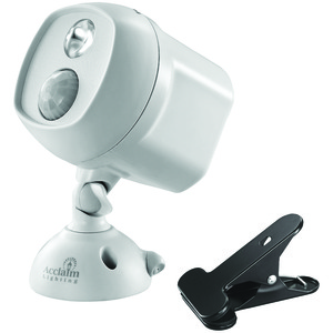 ACCLAIM LIGHTING(R) Motion-Activated LED Spotlight with Clamp (Dove Gray) B222GR