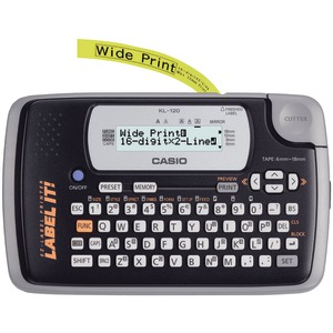 CASIO 16-Digit 2-Line Label Printer KL120L