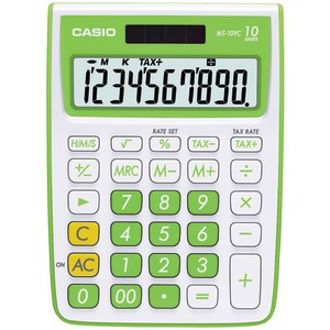 CASIO 10-Digit Calculator (Green) MS-10VC-GN