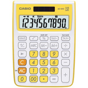 CASIO 10-Digit Calculator (Yellow) MS-10VC-YW