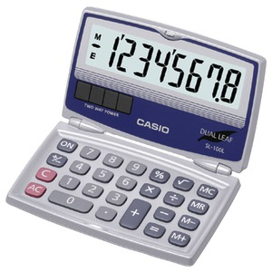 CASIO Solar Calculator with Folding Hard Case SL-100L