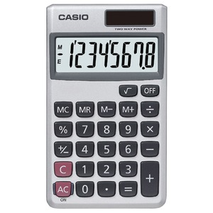 CASIO Wallet Solar Calculator with 8-Digit Display SL300VE/SL300SV