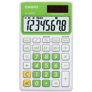 CASIO Solar Wallet Calculator with 8-Digit Display (Green) SL300VCGNSIH