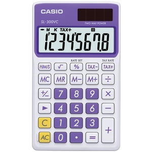 CASIO Solar Wallet Calculator with 8-Digit Display (Purple) SL300VCPLSIH
