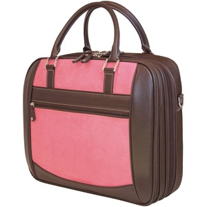 MOBILE EDGE 16 Inch. PC-17 Inch. MacBook(R) ScanFast(TM) Element Briefcase (Pink Suede) MESFEBX