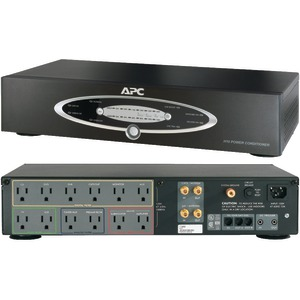 APC 12-Outlet H-Type Rack-Mountable Power Conditioner with Coaxial Protection H10BLK