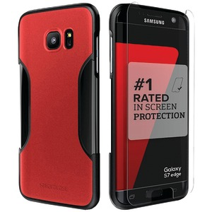 SAHARACASE Classic Protective Kit for Samsung(R) Galaxy S(R) 7 edge (Red/Black) C-S-S7E-BK/RD