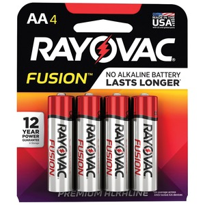 RAYOVAC(R) Fusion(TM) Advanced Alkaline AA Batteries, 4 pk 815-4TFUSK