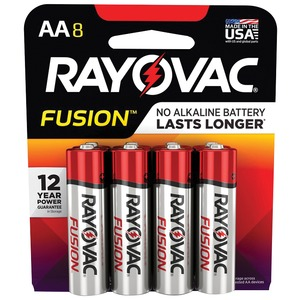 RAYOVAC(R) Fusion(TM) Advanced Alkaline AA Batteries, 8 pk 815-8TFUSK
