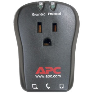 APC 1-Outlet Travel Surge Protector with Telephone Protection P1T