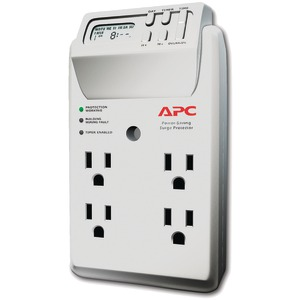 APC 4-Outlet Energy-Saving Surge Protector Wall Tap with LCD Timer P4GC