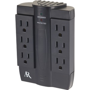 6-Outlet Swivel In-Wall Surge Protector